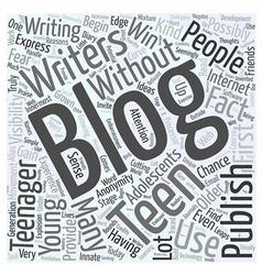 Blogging teens word cloud concept vector