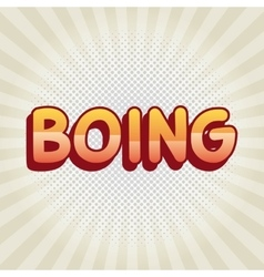 boing comic pop art style vector image