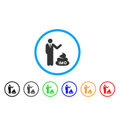 Businessman show imo shit icon vector