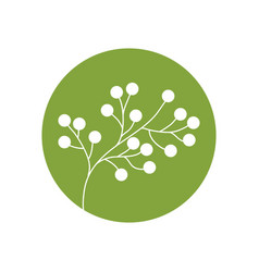 Flower spring branch natural icon vector