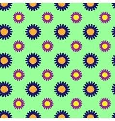 Flowers geometric seamless pattern 804 vector image vector image