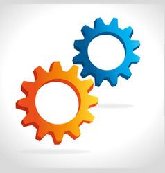 Gears cogs or wheels vector