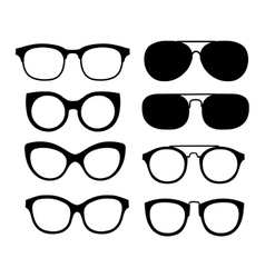 glasses isolated on white background vector image vector image