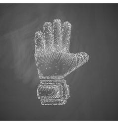 Gloves icon vector