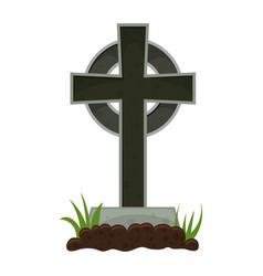 Halloween grave vector