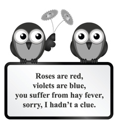 Hay fever poem vector