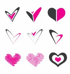 heart shape element vector image vector image