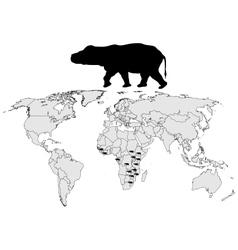 Hippo range vector image vector image
