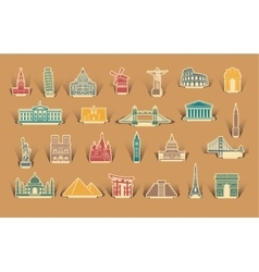 Label tourist attractions vector image vector image