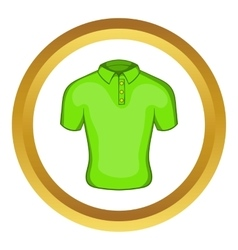 Mens green polo icon vector