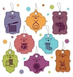 Needlework badges vector