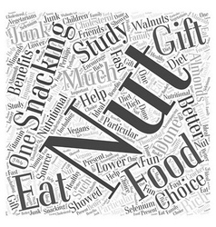 Nut gift basket word cloud concept vector