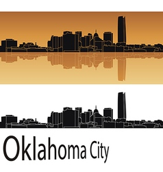 Oklahoma city skyline vector