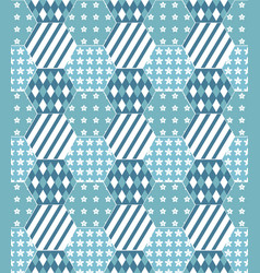 Pattern of patchwork quilt background vector