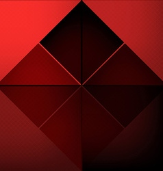 Red squares abstract background vector image