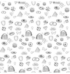 seamless pattern training vector image vector image