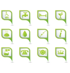 Set of 12 services and entertainment greenpointer vector