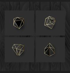 set of minimal geometric monochrome shapes trendy vector image vector image