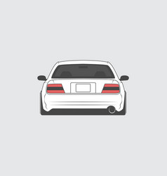 sport japan car back view vector image vector image