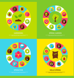 Spring gardening concepts vector