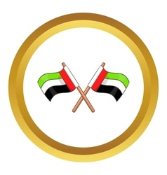 Uae flag icon vector