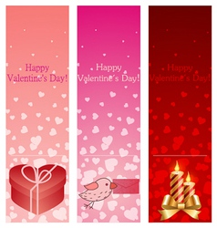 Valentine day vertical banners vector