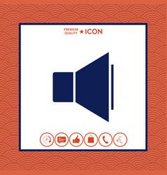 volume icon vector image vector image
