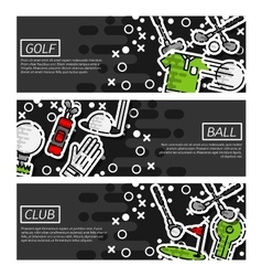 Set of Horizontal Banners about golf vector image