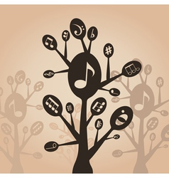 Musical spoon vector image