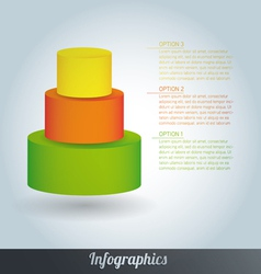 3d progress template vector image