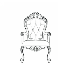 Classic royal armchair with ornaments vector