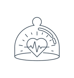Health care icon heart pulse check up diagnostics vector