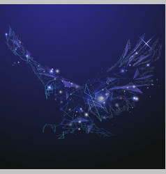 Abstract glowing eagle vector