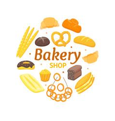 cartoon color bakery banner card vector image