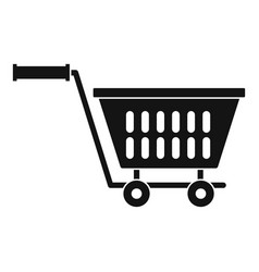 plastic shopping trolley icon simple style vector image