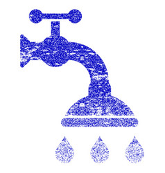 Shower tap grunge textured icon vector