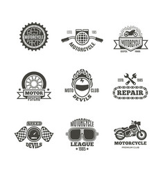 race motorcycle motorbike repair retro vector image