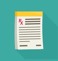 Prescription pad medical prescription vector