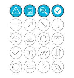 Arrow download refresh and fullscreen symbols vector