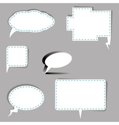 Speech bubbles in different shapes vector