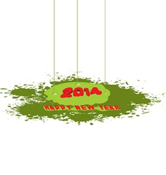 Happy new year paint drip vector
