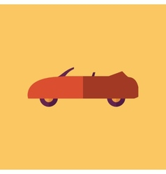 Cabriolet transportation flat icon vector