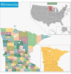 Minnesota map vector
