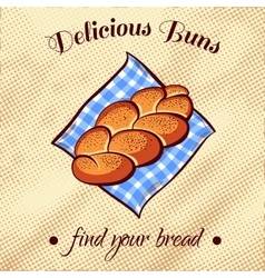 Bread on a napkin 9 vector