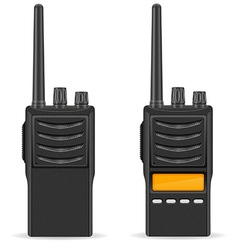 Walkie talkie 03 vector