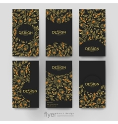 Floral ornament brochure template flyer vector