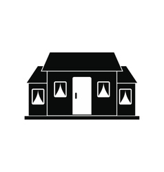 Small cottage black simple icon vector