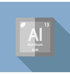 Chemical element aluminum flat vector