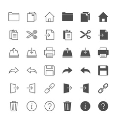 Application toolbar icons vector image