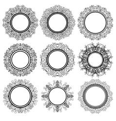 Set of circle geometric ornaments vector